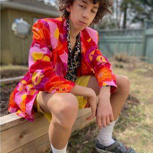 Vintage 90s floral blazer